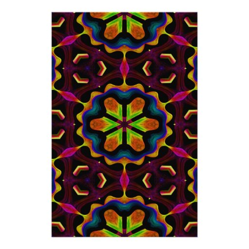 Crossing Waves Fabric Painting. Multicolor Pattern Custom Stationery