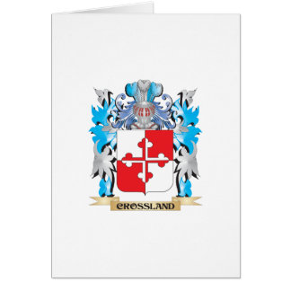 Crossland Coat of Arms - Family Crest Greeting Cards
