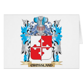 Crossland Coat of Arms - Family Crest Greeting Card