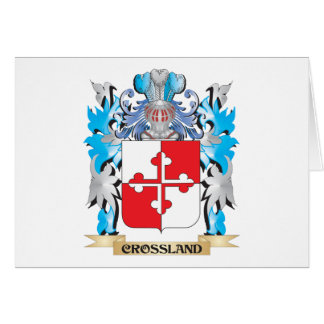 Crossland Coat of Arms - Family Crest Card