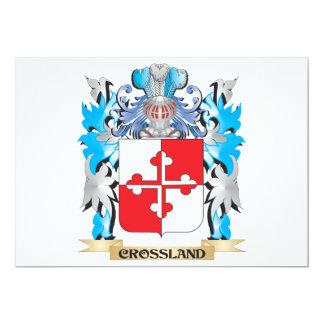 Crossland Coat of Arms - Family Crest Custom Invitation