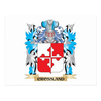 Crossland Coat of Arms - Family Crest Post Cards