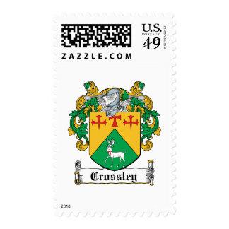 Crossley Family Crest Postage