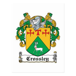 Crossley Family Crest Postcard