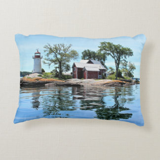 Crossover Island Lighthouse New York Accent Pillow