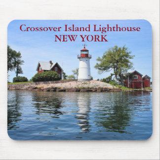 Crossover Island Lighthouse, New York Mousepad