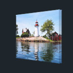 "Crossover Island Lighthouse, NY Wrapped Canvas<br><div class=""desc"">Crossover Island Lighthouse,  New York Wrapped Canvas Print</div>"