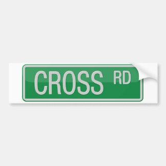 Crossroad street sign bumper sticker