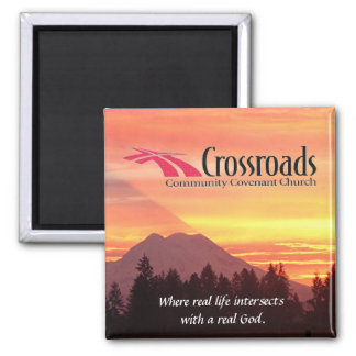 Crossroads 2 Inch Square Magnet