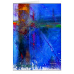 Crossroads - abstract digital painting card cards