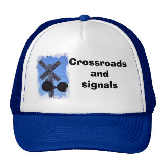 Crossroads and signals trucker hat
