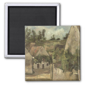 Crossroads at the Rue Remy, Auvers, c.1872 Magnet