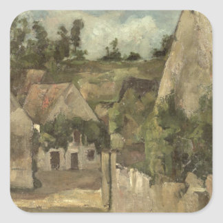 Crossroads at the Rue Remy, Auvers, c.1872 Square Sticker