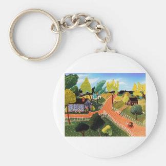 Crossroads Basic Round Button Keychain