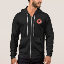 Crossroads BJJ Black Cotton Blend Zip Up Hoodie