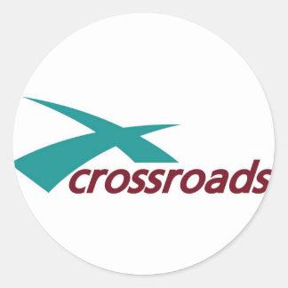 crossroads church classic round sticker