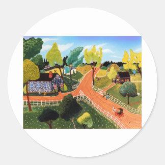 Crossroads Classic Round Sticker