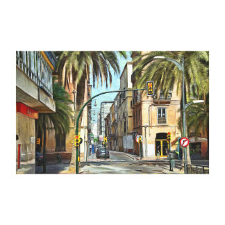 Crossroads in the southern city canvas print