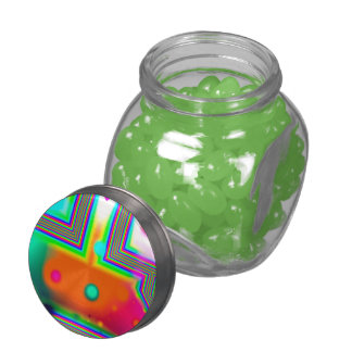 Crossroads of Awakening, Abstract Rainbow Doorway Glass Candy Jars