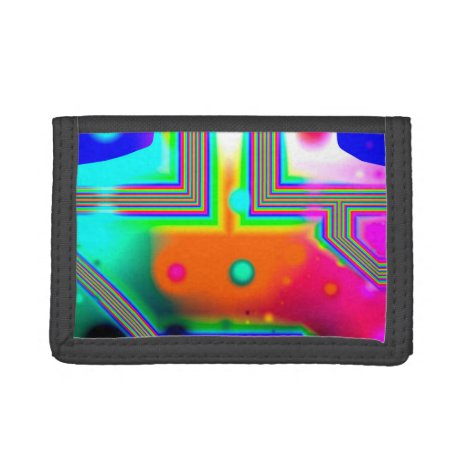 Crossroads of Awakening, Abstract Rainbow Doorway Trifold Wallet