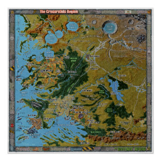 Crossroads Region Gazetteer Map Print