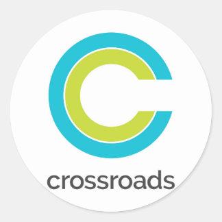 Crossroads Round Sticker