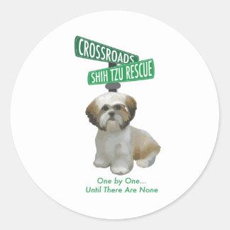 Crossroads ShihTzu Rescue Classic Round Sticker