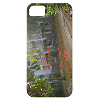 Crossroads with Bible verse In all your ways iPhone SE/5/5s Case