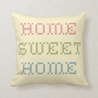 Crosstitch Home Sweet Home Pillow