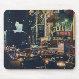 """Crosstown Traffic"" New York Watercolor Art Mouse Pad"