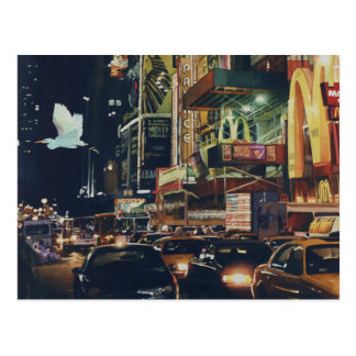 """Crosstown Traffic"" New York Watercolor Art Postcard"