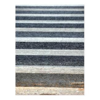 Crosswalk or Zebra Crossing Postcard