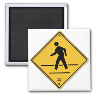 Crosswalk Sign Walk Don't Run Safety Walk Sign 2 Inch Square Magnet