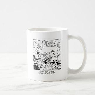Crossword Editor's Bathroom Tile Coffee Mug