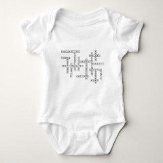 Crossword on White Baby Bodysuit
