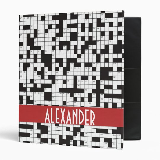 Crossword Puzzle Binder