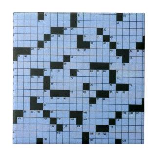 Crossword Puzzle Ceramic Tile