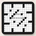 Crossword Puzzle Coasters