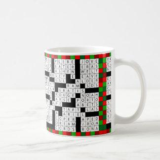 Crossword Puzzle Design on Coffee/Tea Mug