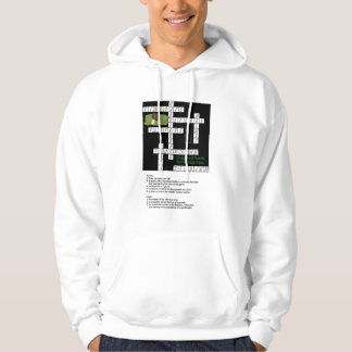 Crossword Puzzle for Football Fans Hoodie