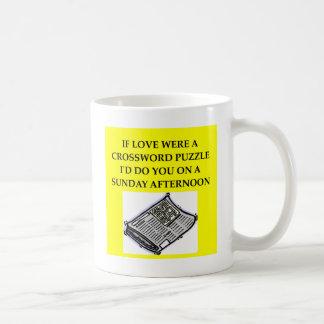 CROSSWORD puzzle lover Mug