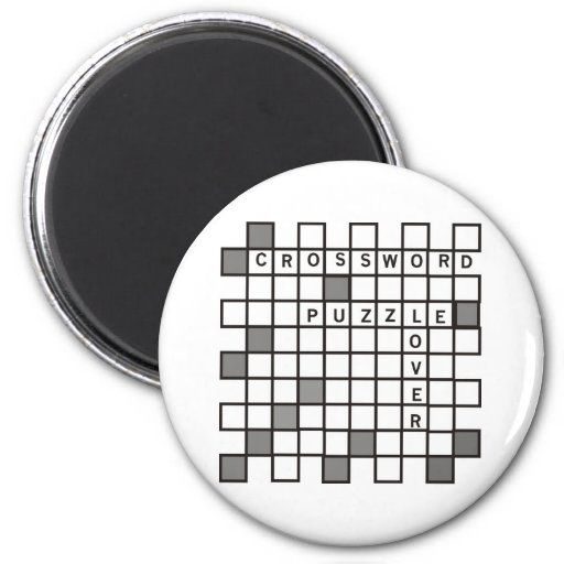 Crossword Puzzle Lovers 2 Inch Round Magnet