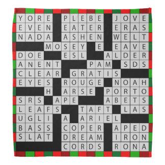Crossword Puzzle Lovers Bandana