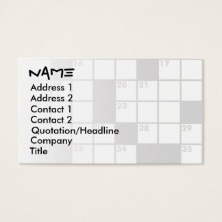Crossword Puzzle Lovers Business Cards