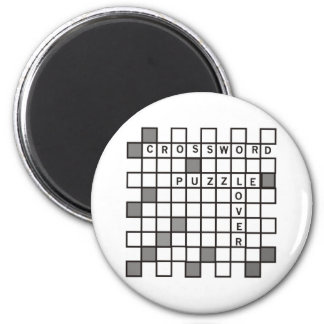 Crossword Puzzle Lovers Magnet