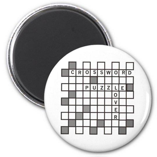 Crossword Puzzle Lovers Magnet