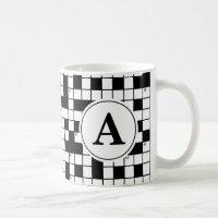 Crossword Puzzle Monogram Coffee Mug