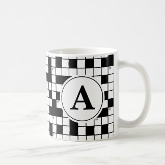 Crossword Puzzle Monogram Coffee Mug