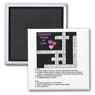 Crossword Puzzle of Love Magnet