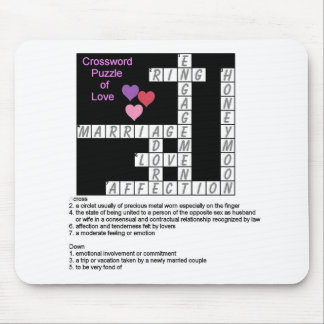 Crossword Puzzle of Love Mousepad